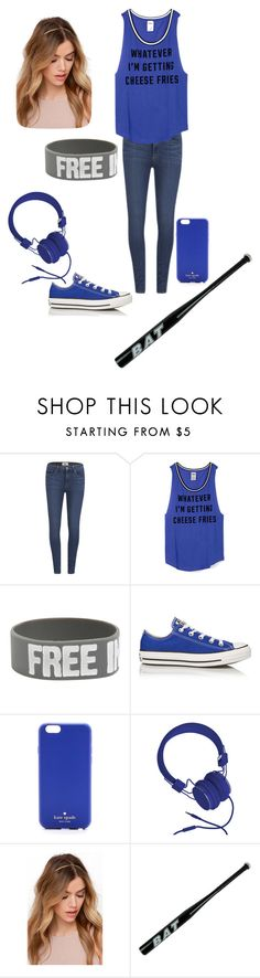 """""""When you first meet/ Sonic.exe"""" by twilightfreak18-1 ❤ liked on Polyvore featuring Paige Denim, Converse, Kate Spade and Urbanears"""