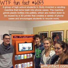 High School students invent a machine that turns trash to phone cases - WTF fun facts