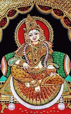 Mysore Painting, Tanjore Painting, Indian Gods, Indian Art, Mural Art, Murals, Flamenco Dancers, Outline Drawings, Durga Goddess