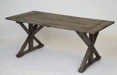 Lankkupöytä ristikkojaloilla |