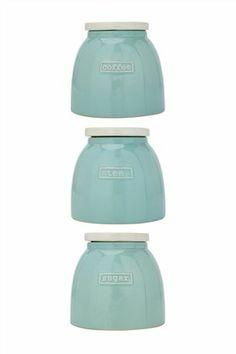 Buy Teal Storage Jars Set Of 3 from the Next UK online shop