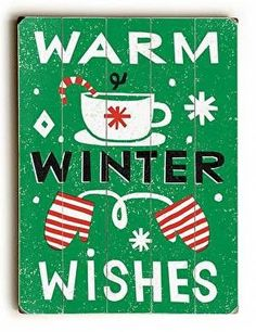 With a fun vintage feel, this Warm Winter Wishes Wood Sign will add cheer to your holiday decor.