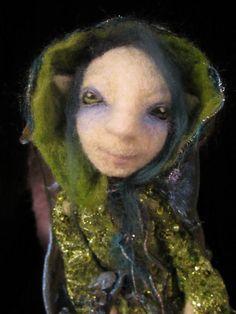 Raven the Woodland Elf by FarFetchedFelting on Etsy, $250.00
