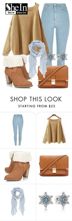 """SheIn"" by deedee-pekarik ❤ liked on Polyvore featuring River Island, UGG Australia, Forever 21, rag & bone, Pandora, Sweater, shein and khakisweater"