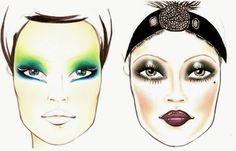 Jillian Undercover: Halloween Make Up! Peacock and Flapper Girl