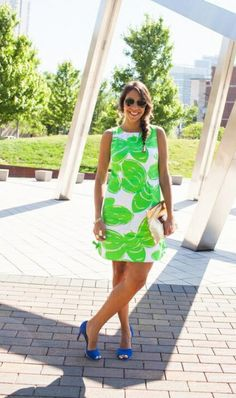 Lilly Pulitzer Shift Dress, via SorayaCPena