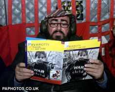 Luciano Pavarotti reads. This man is so lovable in many ways. I love and adore this man.