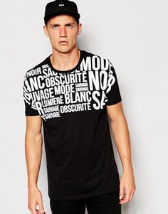 ASOS T-Shirt With Text Print Yoke In Relaxed Skater Fit