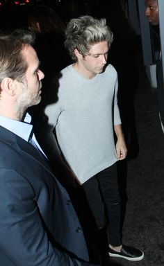 Niall leaving his birthday party
