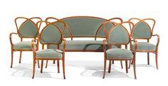 A Thonet Fruitwood Parlor Suite     Louis Daniel Brodsky Collection of Art Nouveau