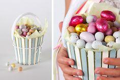 Tara Dennis Easter craft idea - pop stick basket - easy Easter craft idea for the kids & perfect for an Easter egg hunt