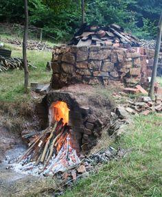 updraught wood-fired kiln