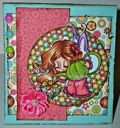"My project for Little Blue Button Stamps using ""Miss Lily Gardening Fairy"" #lbbstamps"