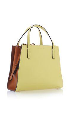 Vitello Leather Shopping Bag - Marni Pre-Spring 2016  - Preorder now on Moda Operandi