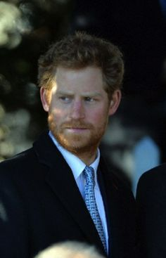 Britain's Prince Harry attend Christmas Day Service 2013 at The Church of St Mary Magdalene, Sandringham Estate Norfolk.