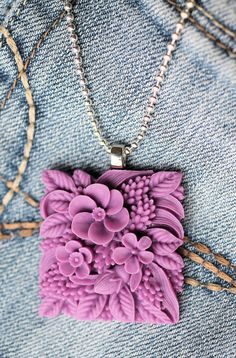 Purple Flower Garden by PolyLimited on Etsy, $15.00