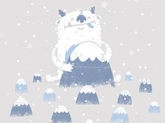 Happy Yeti Illustration by Luke Tudor Cute Monster Illustration, Illustration Art, Cute Monsters, Little Monsters, Snow Monster, Monster Drawing, Graffiti Font, Bigfoot, Art Studios