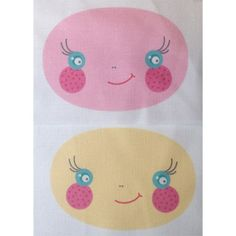Have you run out of faces for your your Lola Ladybugs?If so purchase some more to make up another cute little pair!This item contains one pink and one yellow face printed on Kona Cotton.