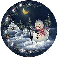 """Képtalálat a következőre: """"merry christmas rice paper"""" Christmas Rock, Christmas Scenes, Christmas Pictures, Christmas Snowman, Vintage Christmas, Christmas Holidays, Merry Christmas, Painted Christmas Ornaments, Christmas Decorations"""