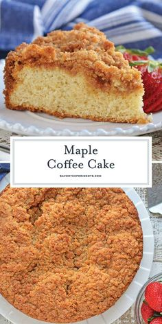 Maple Coffee Cake is an easy cake recipe using real maple syrup and pancake mix for a quick and easy breakfast cake recipe coffeecakerecipe maplecoffeecake pancakemixcoffeecake Pancake Mix Coffee Cake Recipe, Pancake Mix Uses, Cake Mix Pancakes, Krusteaz Pancake Mix Recipes, Easy Cake Recipes, Best Dessert Recipes, Easy Desserts, Baking Recipes, Delicious Desserts