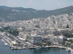 City of Kavala,Greece Thasos, Cityscapes, Greek Islands, Amazing Places, San Francisco Skyline, Paris Skyline, The Good Place, Greece, Places To Visit