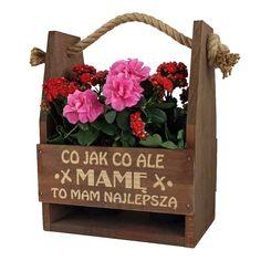 Nosidło na kwiaty i świetny pomysł na prezent dla mamy, doskonały upominek. Znakowana techniką laserową, praktyczny gadżet dla każdej mamy. Super Mam, Love You Gif, Good Night Image, Best Mother, Best Teacher, Ladder Decor, Floral Wreath, Deco, Crafting