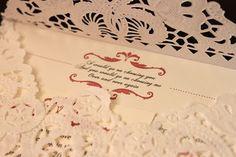 LACE wedding invitations!!! LOVE