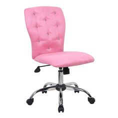 Boss Tiffany Microfiber Chair - Mix business and glamour with this Boss Tiffany Microfiber Chair . In a classic, tufted design with a twist, this chair features crystal buttons...