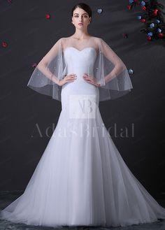 [179.99] Alluring Tulle Sweetheart Neckline Mermaid Wedding Dress - dressilyme.com