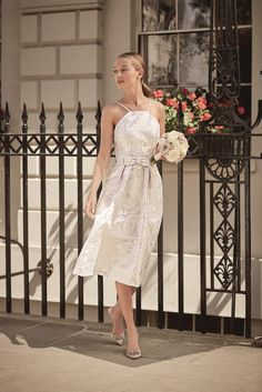 Look timeless in our short style Début bridal dress