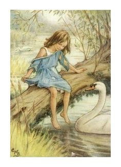 9.  She told her difficulty to good Madam Pen.  Lord of the Rushie River by Cicely Mary Barker, 1938.
