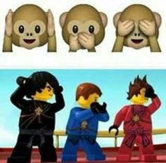 """OH MY GOSH, I finally get that joke 100%!!  At first I thought Sensei Wu was just pointing out how their 'moves' were different from what he was teaching in a humorous manner, but NOW I GET IT.  """"That looks like the shocked monkey."""" XDXD"""