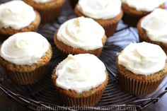 Recipe - Zucchini Cupcakes with Cream Cheese Frosting - One Hundred Dollars a Month Desserts For A Crowd, Mini Desserts, Easy Desserts, Delicious Desserts, Dessert Recipes, Cupcake Recipes, Zucchini Cupcakes, Zucchini Chocolate Chip Muffins, Cream Cheese Desserts