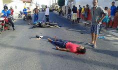 #LEIAMAIS  WWW.OBSERVADORINDEPENDENTE.COM ALAGOINHAS: Motociclista e ciclista ficam feridos após colisão na Rua do Catu
