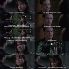 A Walk To Remember - I almost cry at this part. There are so many scenes I almost cry at. This movie just touches me in a way that no other movie ever has.