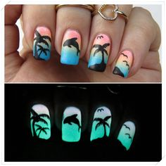 Tropical Nails (Glow in the Dark) Nail Art PANDORA Jewelry More than 60% off! 35…
