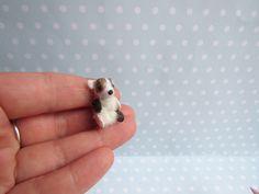Spielzeug WELPE Hündchen Hund Toy für RealPuki BJD Puppe OOAK  3 cm miniatur Handmade for Real Puki Pukifee doll Fairyland von NiceMiniThings auf Etsy