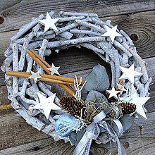 Dekorácie - Vánoční věnec - Ledový - 5883032_