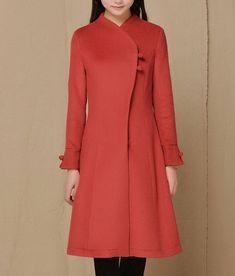 Streamline Plait Button Wool Coat Womens Outerwear by zeniche, $107.00 Peplum Coat, Coat Dress, Coat Patterns, Dress Patterns, Pretty Outfits, Pretty Clothes, Fall Outfits, Summer Outfits, Casual Outfits