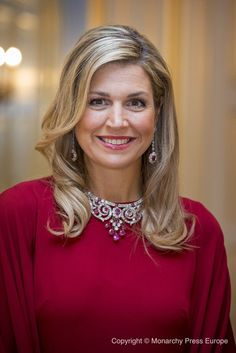 Queen Maxima hosted a dinner in honor of German President Gauck and his wife Daniela Schadt in Palace Noordeinde 6 FEB 2017