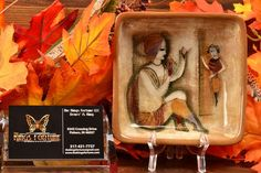 Polia Pillin Pottery Square Tray, Friend comes to visit This beautiful Polia Pillin square tray displays a seated woman welcoming a visiting friend. Square Tray, Mid Century Art, Modern Ceramics, Pottery Art, Lunch Box, Woman, Brown, Pulley, Bento Box