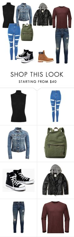 """""""his and her"""" by alessiabazzurro on Polyvore featuring rag & bone, Topshop, Aéropostale, Herschel Supply Co., Madewell, Hollister Co., Only & Sons and The North Face"""