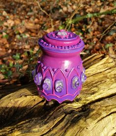 Purple pot from Glass and polymerclay