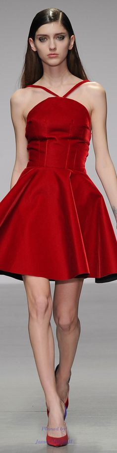 Emilio de la Morena Fall 2014 Ready-to-Wear Fashion Show Fashion Models, High Fashion, Fashion Show, Fashion Design, Color Fashion, Red Fashion, London Fashion, Little Red Dress, Emilio