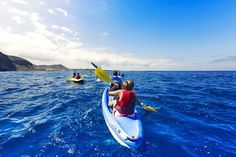 Sea kayaking off the coast of Tenerife | 7 reasons to leave your lounger in Tenerife | Weather2Travel.com #tenerife #canaryislands #spain #travel