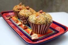 Fancy Lemon and Pop Muffins {Gluten-free} - Sparkle Ellie Muffin Mix, Muffin Cups, Salted Caramel Popcorn, Lemon Syrup, Pecan Nuts, Edible Glitter, Gluten Free Muffins, Fudge, Sparkles