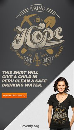 Check out Sevenly, an awesome solution to the billion-charity dilemma. This shirt will give a child in Peru clean drinking water. http://svnly.org/PinLink