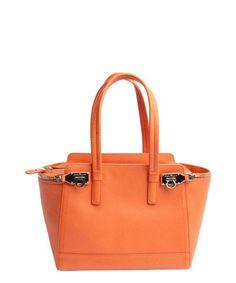 d6ee3f0c23 Salvatore Ferragamo Tote Verve Small Light Zip-Side Tote Bag