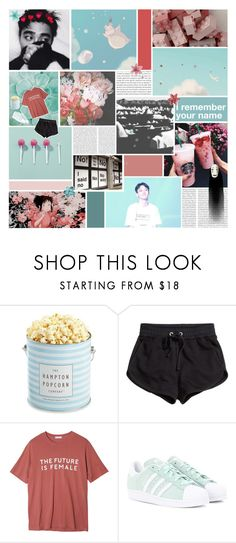 """""""BOTBBD ; round 3 - movie night"""" by inconvenient ❤ liked on Polyvore featuring Oris, SEN, The Hampton Popcorn Company, H&M, StyleNanda, adidas Originals and BOTBBD"""