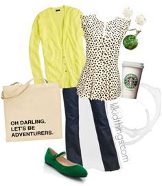 Love the combo especially the green shoes